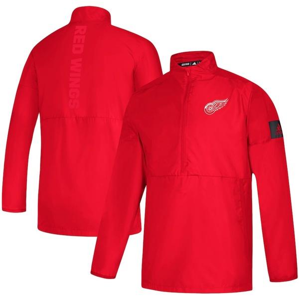 アディダス メンズ ジャケット&ブルゾン アウター Detroit Red Wings adidas Game Mode climalite Quarter-Zip Jacket Red