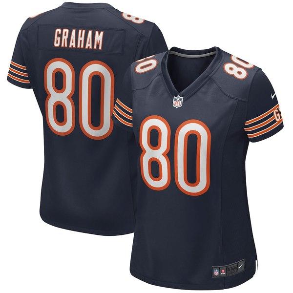 ナイキ レディース シャツ トップス Jimmy Graham Chicago Bears Nike Women's Player Game Jersey Navy