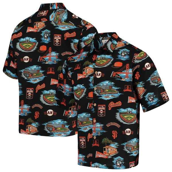 レインスプーナー メンズ シャツ トップス San Francisco Giants Reyn Spooner Scenic Button-Up Shirt Black