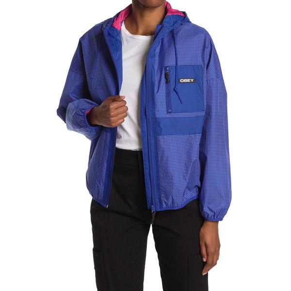 オベイ レディース 本店 アウター ジャケット ブルゾン 全商品無料サイズ交換 Jacket RIverbed COBALT 2020A/W新作送料無料 Hooded