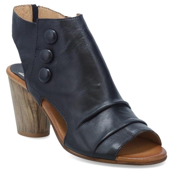 ミズムーズ レディース サンダル シューズ Miz Mooz Bella Slingback Sandal (Women) Black Leather