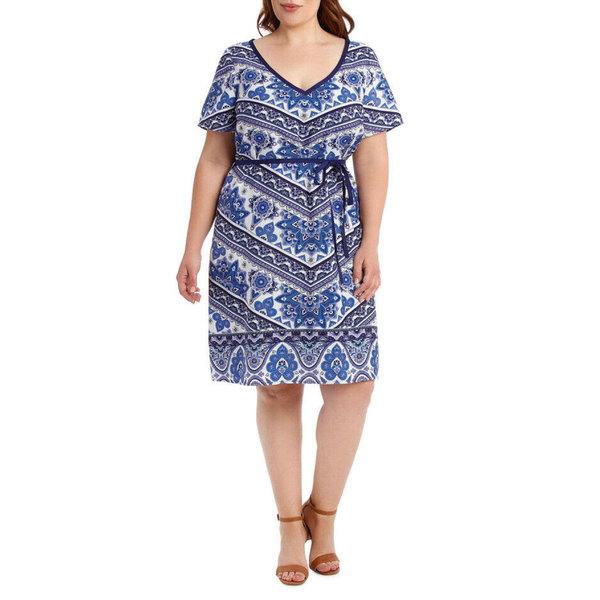 エステール レディース ワンピース トップス Estelle Morocco Short Sleeve Dress Print