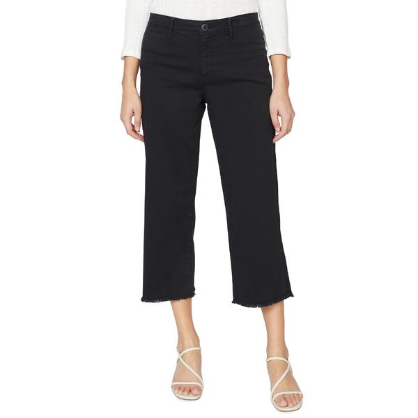 サンクチュアリー レディース カジュアルパンツ ボトムス Sanctuary Wide Leg Raw Hem Crop Pants Black