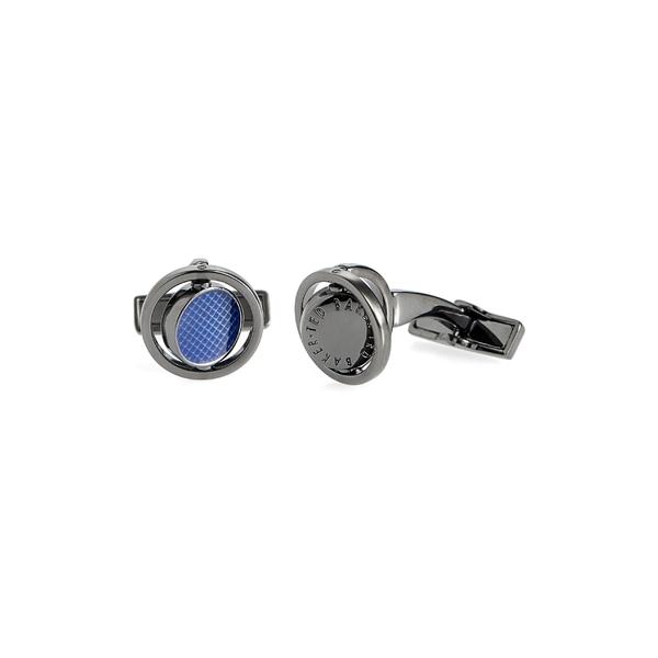 テッドベーカー メンズ アクセサリー カフスボタン Blue 全商品無料サイズ交換 テッドベーカー メンズ カフスボタン アクセサリー Ted Baker London Spinning Cuff Links Blue