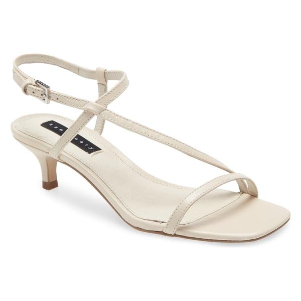 サンクチュアリー レディース サンダル シューズ Sanctuary Wave Kitten Heel Sandal (Women) Bone Leather