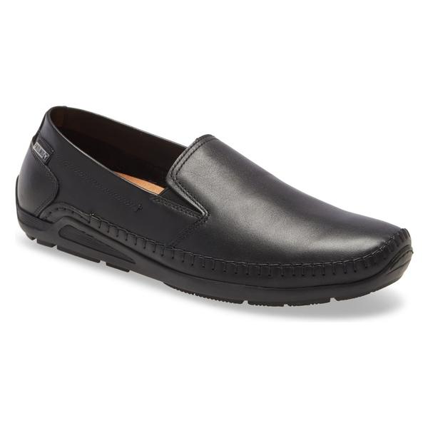 ピコリーノス メンズ スリッポン・ローファー シューズ PIKOLINOS Azores Driving Shoe (Men) Black Leather