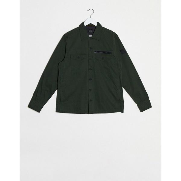 ボス メンズ ジャケット&ブルゾン アウター BOSS Lovel lightweight jacket in khaki Khaki
