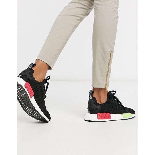 アディダスオリジナルス レディース スニーカー シューズ Adidas Originals NMD sneakers in Black and Pink Black
