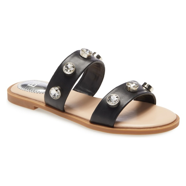ビーピー レディース サンダル シューズ BP. Stud Slide Sandal (Women) Black Faux Leather