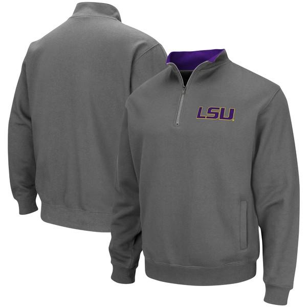 コロシアム メンズ ジャケット&ブルゾン アウター LSU Tigers Colosseum Tortugas Logo QuarterZip Pullover Jacket White