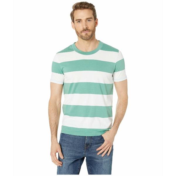 ヒューゴボス メンズ シャツ トップス Bold Stripe T-Shirt Open Green