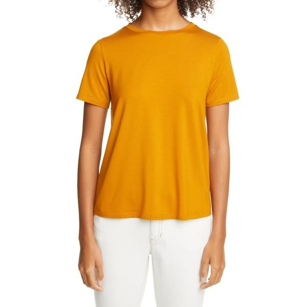 エイリーンフィッシャー レディース Tシャツ トップス Crewneck Women's T-Shirt Goldenrod