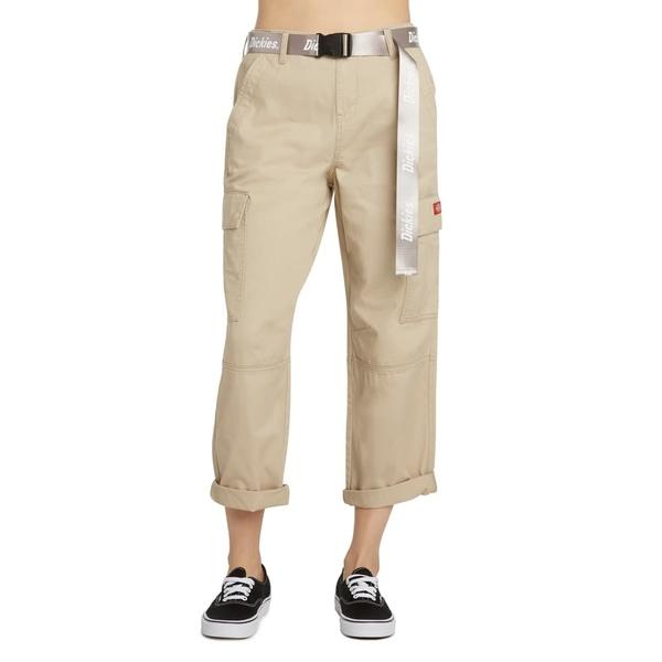 ディッキーズ レディース カジュアルパンツ ボトムス Belted Crop Utility Cargo Pants Khaki