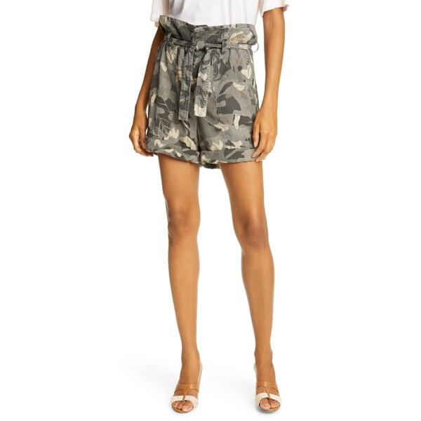 ル シュペルブ レディース ワンピース トップス Floral Camo Paperbag Waist Shorts Glamo Camo