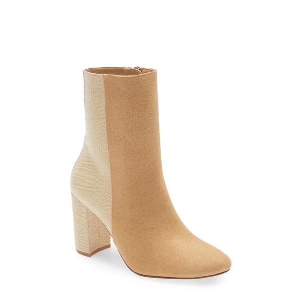 チャイニーズランドリー レディース ブーツ&レインブーツ シューズ Koraline Block Heel Bootie Latte/ Beige Faux Leather