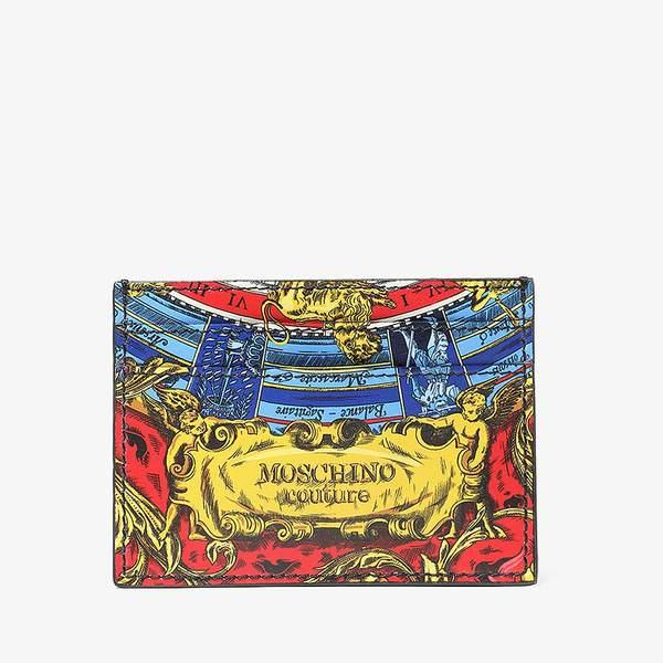 モスキーノ メンズ 財布 アクセサリー Roman Print Card Holder Multi