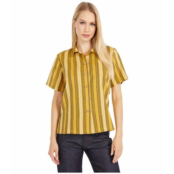 ナイキッドアンドフェイマス レディース シャツ トップス Camp Collar Shirt Yellow