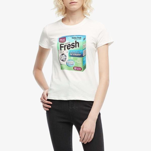 モスキーノ レディース シャツ トップス Fresh T-Shirt White
