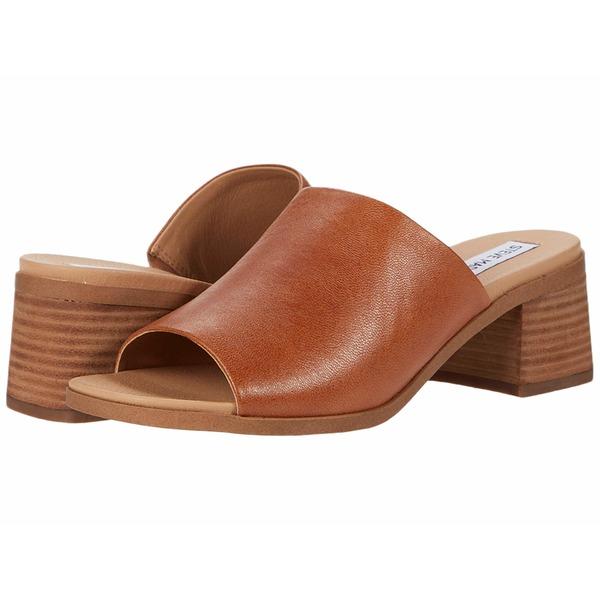 スティーブ マデン レディース ヒール シューズ Alessia Heeled Sandal Cognac Leather