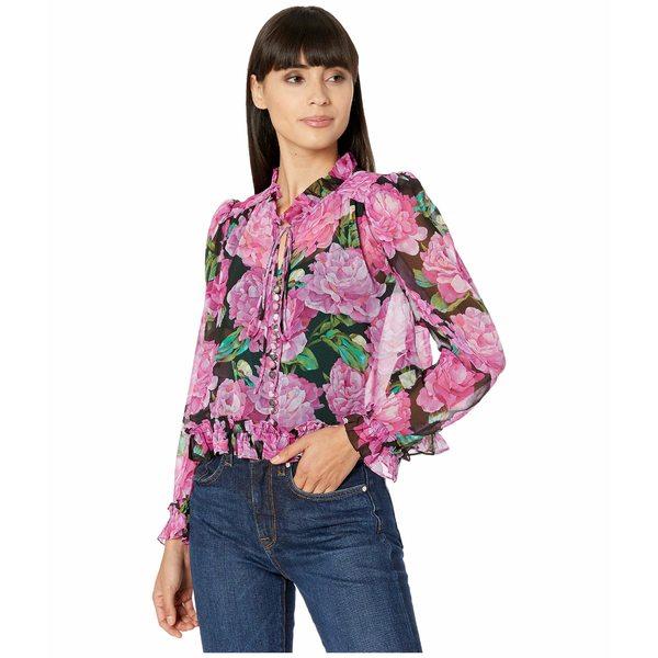 ザ・クープルス レディース シャツ トップス Floral Blouse Black/Pink