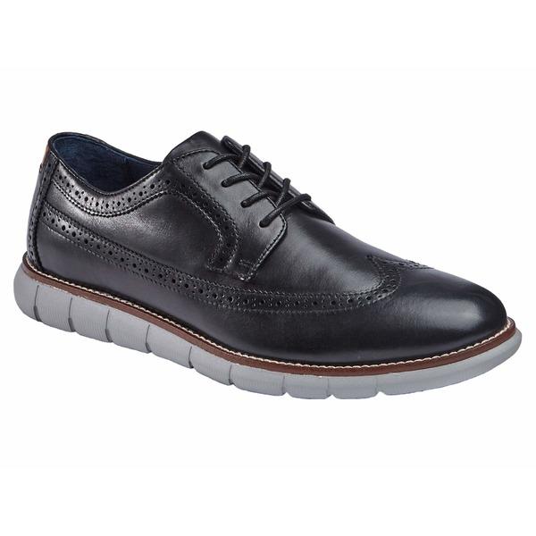 ジョンストンアンドマーフィー メンズ ドレスシューズ シューズ Milson Longwing Black Full Grain Leather