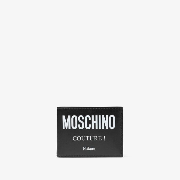 モスキーノ メンズ 財布 アクセサリー Couture! Bifold Wallet Black
