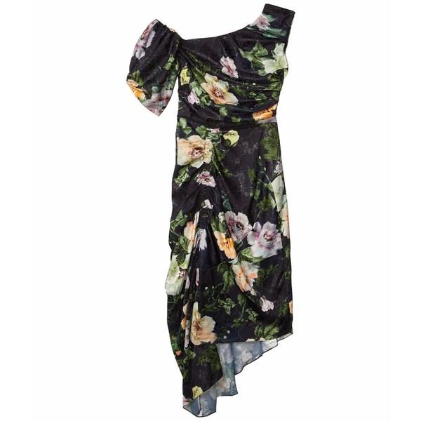 プリーン ソーントン ブルガッジ レディース ワンピース トップス Willabelle Dress Black Lotus Flower