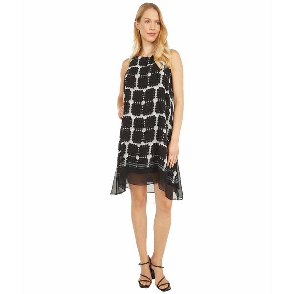 マックススタジオ レディース ワンピース トップス Printed GGT Trapeze Dress Black/Grey