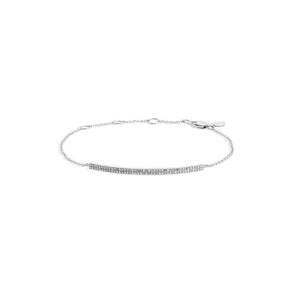 メイラティ レディース ブレスレット・バングル・アンクレット アクセサリー Diamond Bar Pendant Bracelet White Gold