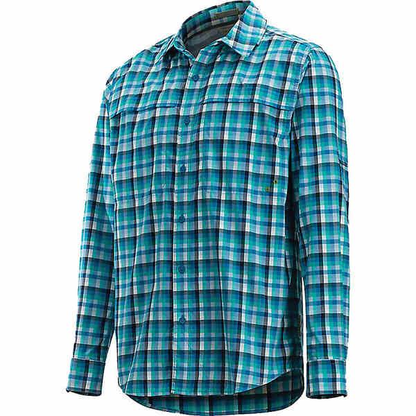 エクスオフィシオ メンズ ハイキング スポーツ ExOfficio Men's Tellico LS Shirt Deep Water