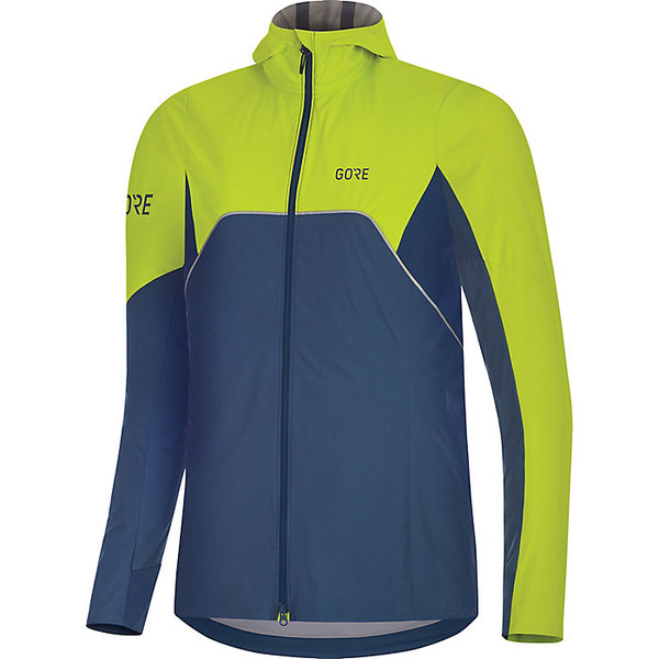 ゴアウェア レディース ジャケット&ブルゾン アウター Gore Wear Women's R7 Partial GTX Infinium Hooded Jacket Deep Water Blue / Citrus Green