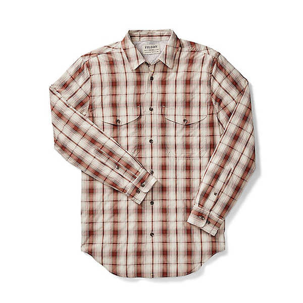 フィルソン メンズ シャツ トップス Filson Men's Twin Lakes Sport Shirt Rust / Cream Plaid