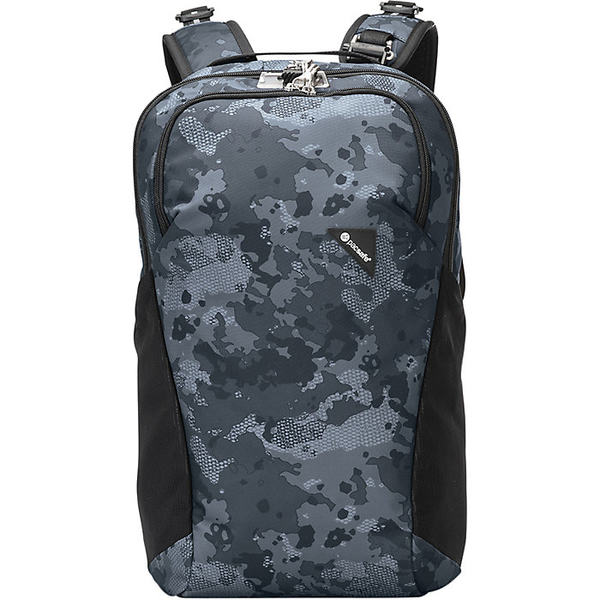パックセーフ メンズ バックパック・リュックサック バッグ Pacsafe Vibe 20 Anti-Theft Backpack Grey Camo