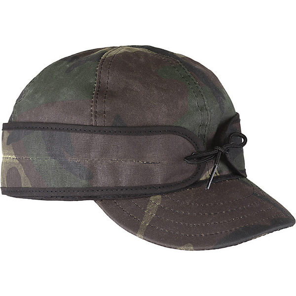 ストーミー クローマー レディース 帽子 アクセサリー Stormy Kromer Waxed Cotton Cap Woodland Camo