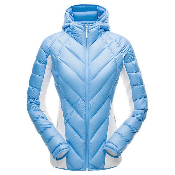 スパイダー レディース ジャケット&ブルゾン アウター Spyder Women's Syrround Hybrid Hoody Jacket Blue Ice / White / Blue Ice