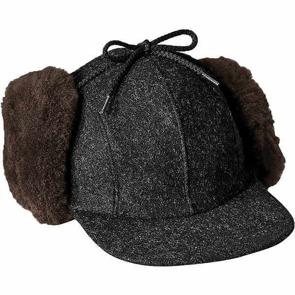 フィルソン メンズ 帽子 アクセサリー Filson Double Mackinaw Cap Charcoal / Dark Brown