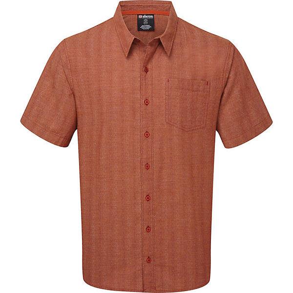 シャーパ メンズ ハイキング スポーツ Sherpa Men's Arjun SS Shirt Teej Orange