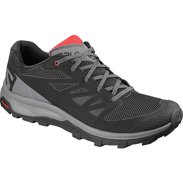 サロモン メンズ ハイキング スポーツ Salomon Men's Outline Shoe Black / Quiet Shade / High Risk Red