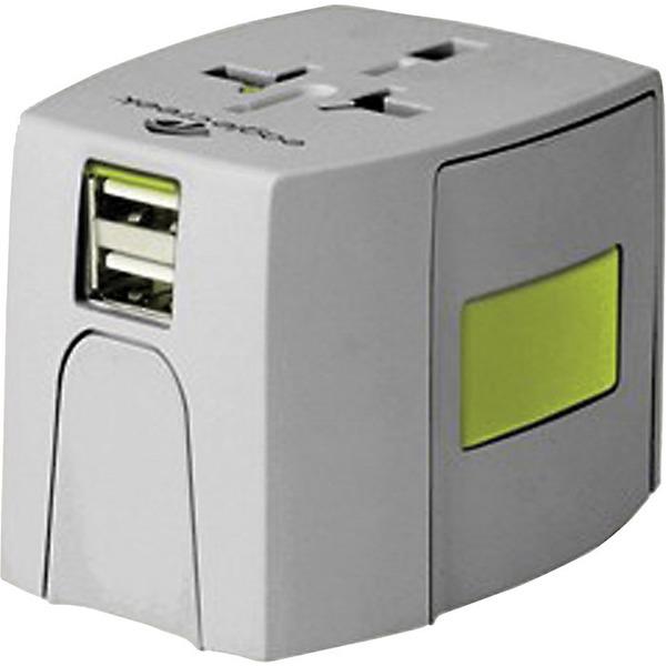 イーグルクリーク レディース ボストンバッグ バッグ Eagle Creek USB Universal Travel Adapter Quarry Grey / Strobe