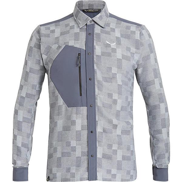 サレワ メンズ シャツ トップス Salewa Men's Fanes Springer PL LS Shirt Ombre Blue / Bluefog