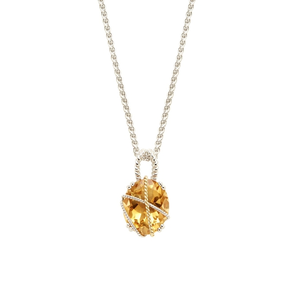 エフィー レディース ネックレス・チョーカー・ペンダントトップ アクセサリー 925 Sterling Silver, 18K Yellow Gold & Citrine Pendant Necklace Gold