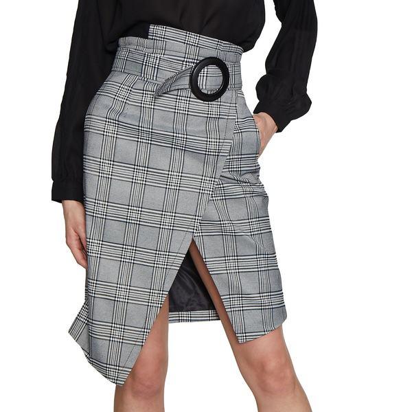 ウォルターベーカー レディース スカート ボトムス Plaid Deana Skirt Blue Grey