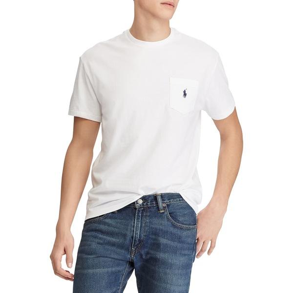ラルフローレン メンズ Tシャツ トップス Classic Fit Cotton T-Shirt White