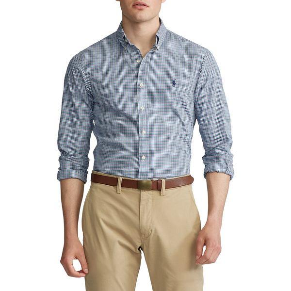 ラルフローレン メンズ シャツ トップス Classic-Fit Plaid Long-Sleeve Shirt Blue Multi
