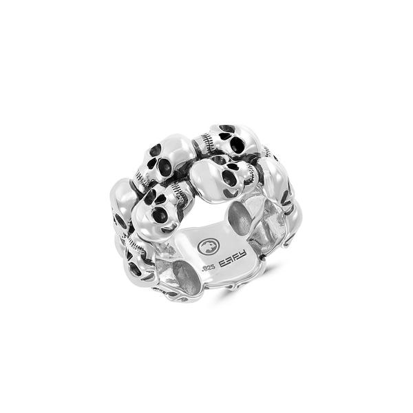 エフィー レディース リング アクセサリー 925 Sterling Silver Skull Ring Silver