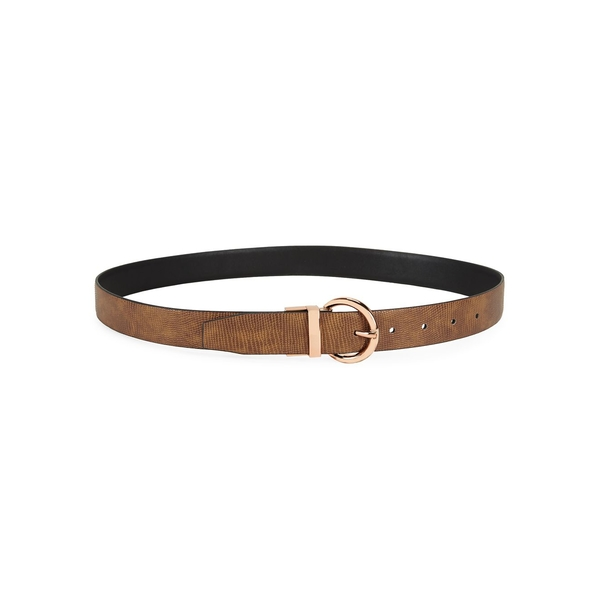 スティーブ マデン レディース ベルト アクセサリー Textured Faux Leather Belt Cognac Black