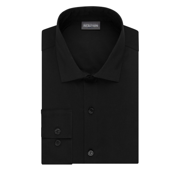 ケネスコール メンズ シャツ トップス Slim-Fit Techni-Cole 3-Way Flex Dress Shirt Black