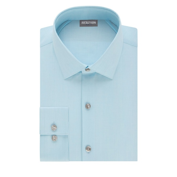 ケネスコール メンズ シャツ トップス Slim-Fit Techni-Cole 3-Way Flex Dress Shirt Bluejay
