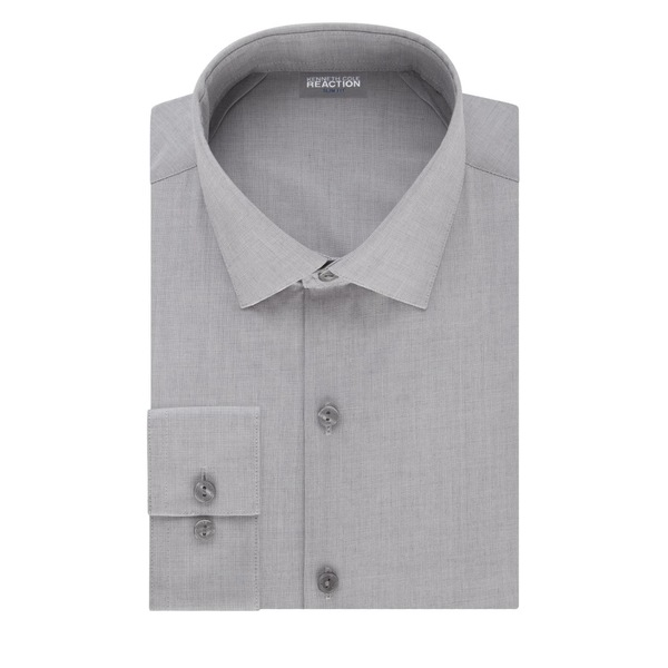 ケネスコール メンズ シャツ トップス Slim-Fit Techni-Cole 3-Way Flex Dress Shirt Grey Frost