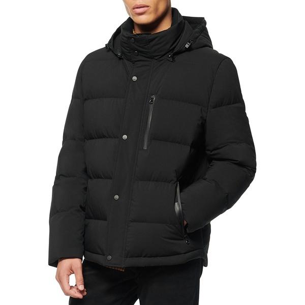 アンドリューマーク メンズ ジャケット&ブルゾン アウター Tambos Regular-Fit Down-Fill Hooded Jacket Black